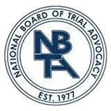 Badge representing Holton Law Firm's affiliation with NBTA